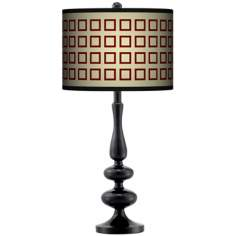 Simply Squares Giclee Paley Black Table Lamp