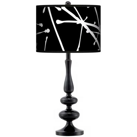 Stacy Garcia Calligraphy Tree Black Paley Black Table Lamp