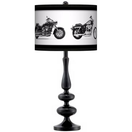 Hit The Road Giclee Paley Black Table Lamp