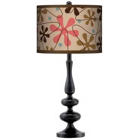 Retro Giclee Paley Black Table Lamp