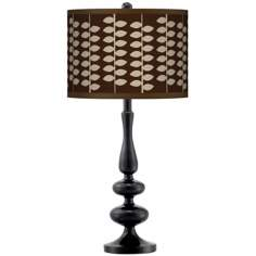 Hi-Fi Giclee Paley Black Table Lamp