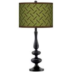 Wailia Giclee Paley Black Table Lamp