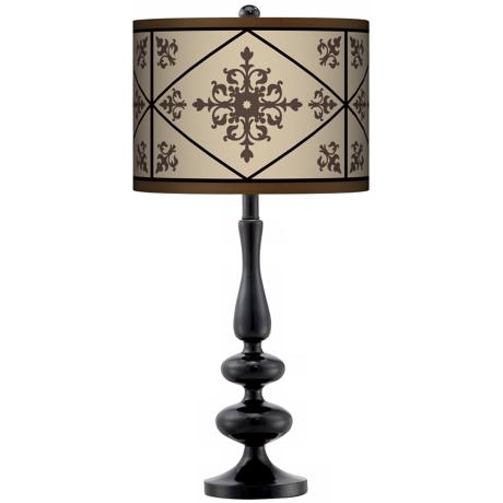 Chambly Giclee Paley Black Table Lamp