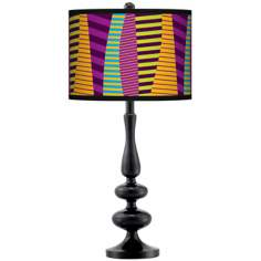 Mambo Giclee Paley Black Table Lamp