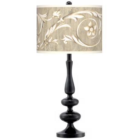 Laurel Court Giclee Paley Black Table Lamp