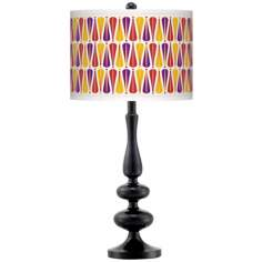 Hinder Giclee Paley Black Table Lamp