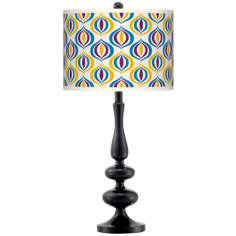 Scatter Giclee Paley Black Table Lamp
