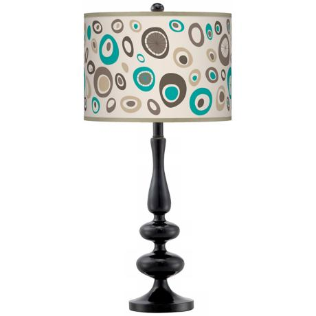 Stammer Giclee Paley Black Table Lamp