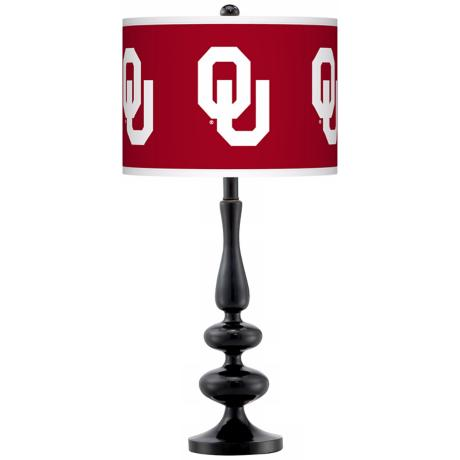 The University of Oklahoma Gloss Black Table Lamp