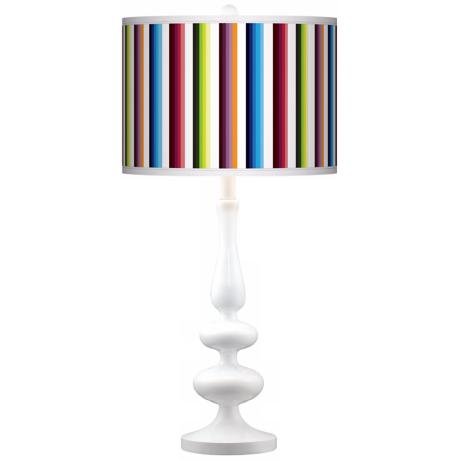 Technocolors Modern Gloss White Base Table Lamp