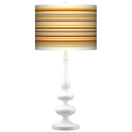 Stacy Garcia Lemongrass Stripe Paley White Table Lamp