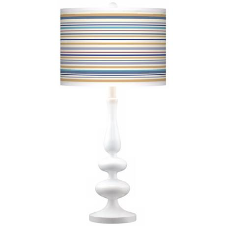 Stacy Garcia Landscape Stripe Giclee Paley White Table Lamp