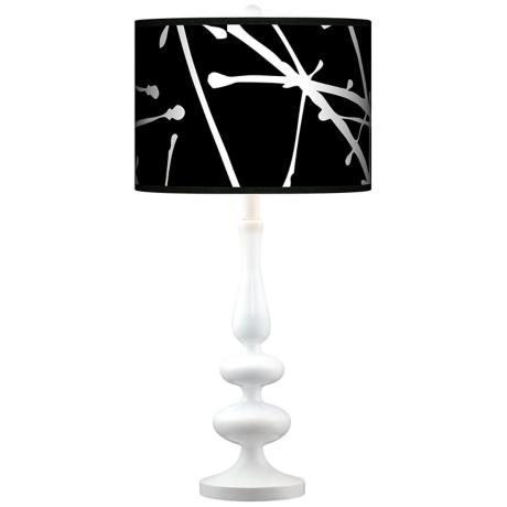 Stacy Garcia Calligraphy Tree Black Paley White Table Lamp