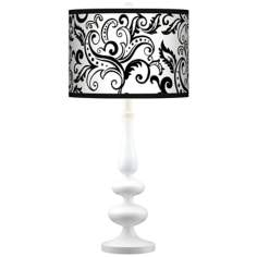 Regency Black Giclee Paley White Table Lamp