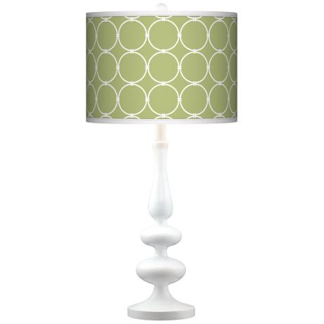 Spring Interlace Giclee Paley White Table Lamp