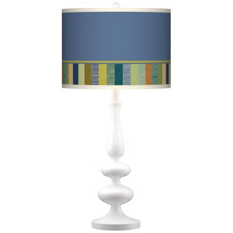 Stacy Garcia Modern Palette Giclee Paley White Table Lamp