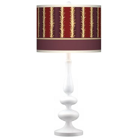 Stacy Garcia Lexington Cinnamon Paley White Table Lamp