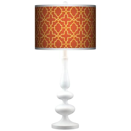 Stacy Garcia Santorini Lattice Suns Paley White Table Lamp