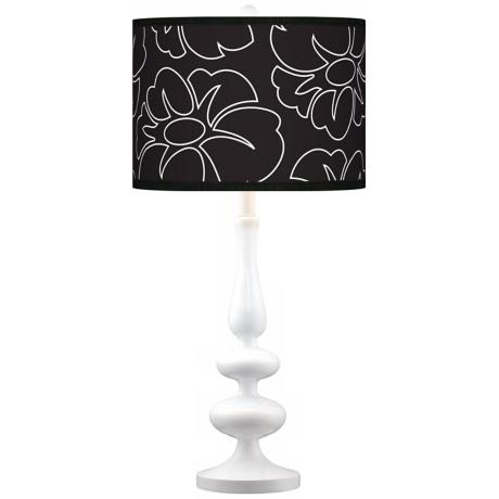 Summer Silhouette Giclee Paley White Table Lamp
