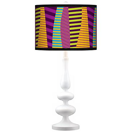Mambo Giclee Paley White Table Lamp
