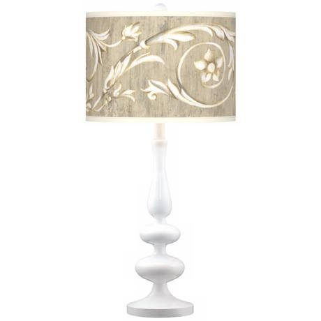 Laurel Court Giclee Paley White Table Lamp