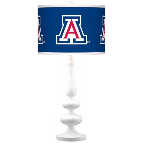 The University of Arizona Gloss White Table Lamp