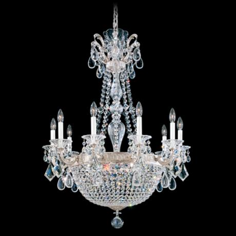 "Schonbek La Scala Collection 30"" Wide Crystal Chandelier"