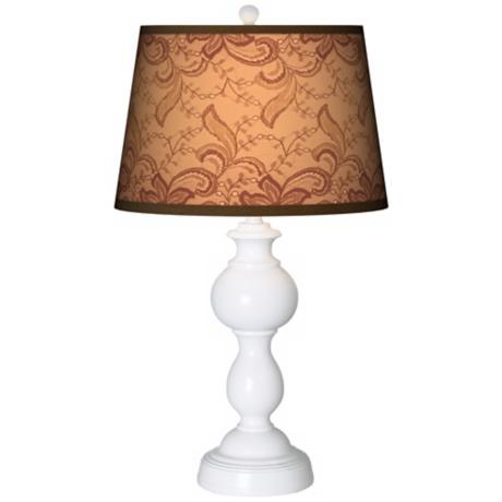 Sepia Lace Giclee Sutton Table Lamp
