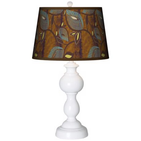 Stacy Garcia Theatric Vine Peacock Giclee Sutton Table Lamp