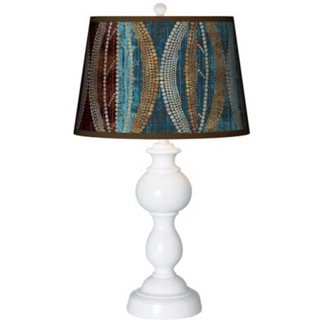Stacy Garcia Pearl Leaf Peacock Giclee Sutton Table Lamp