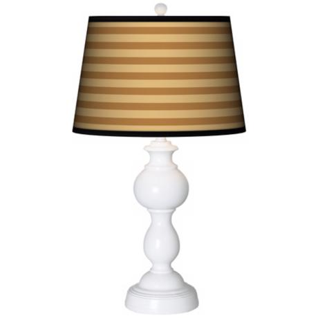 Butterscotch Parallels Giclee Sutton Table Lamp