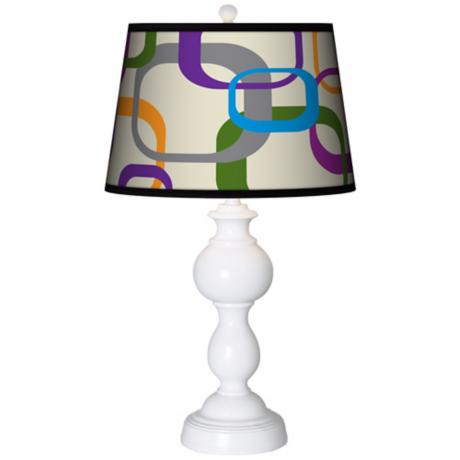 Retro Squares Scramble Giclee Sutton Table Lamp