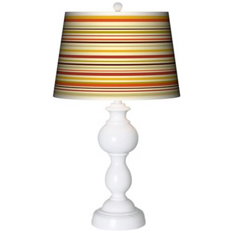 Stacy Garcia Lemongrass Stripe Giclee Sutton Table Lamp