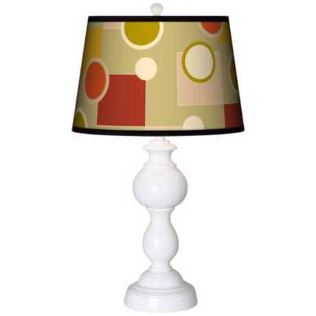 Retro Citrus Medley Giclee Sutton Table Lamp