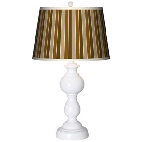 Umber Stripes Giclee Sutton Table Lamp