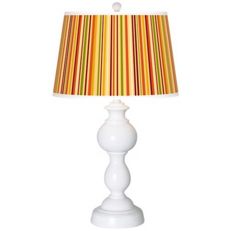 Stacy Garcia Vert Harvest Stripe Giclee Sutton Table Lamp