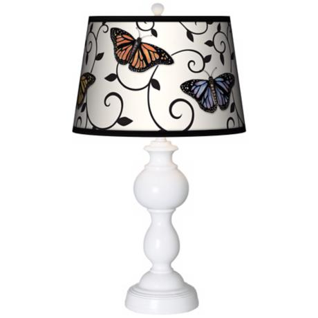 Butterfly Scroll Giclee Sutton Table Lamp