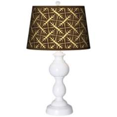 Tan Wailia Giclee Sutton Table Lamp