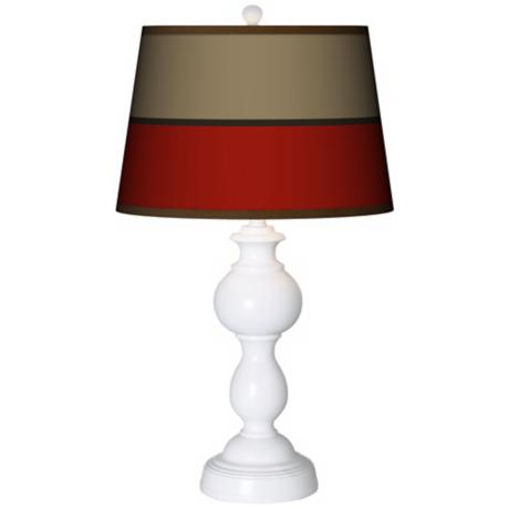 Empire Red Giclee Sutton Table Lamp