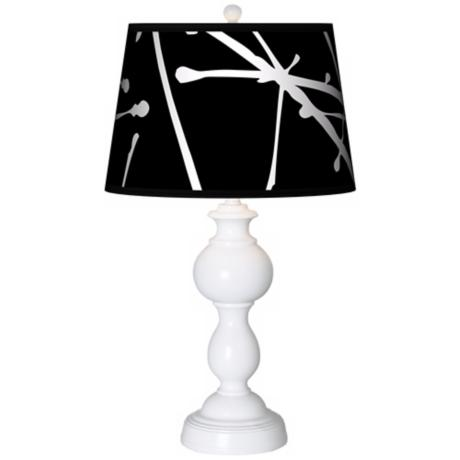 Stacy Garcia Calligraphy Tree Black Giclee Sutton Table Lamp
