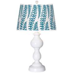 Stacy Garcia Fancy Fern Peacock Giclee Sutton Table Lamp