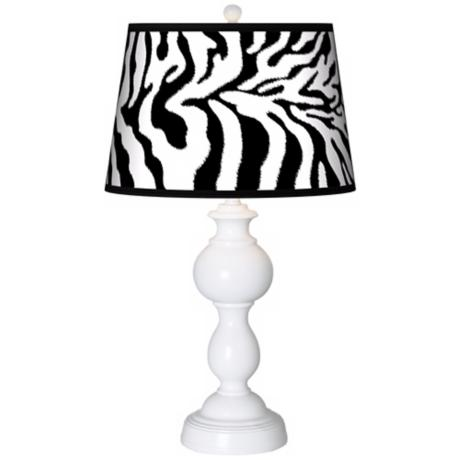Safari Zebra Giclee Sutton Table Lamp