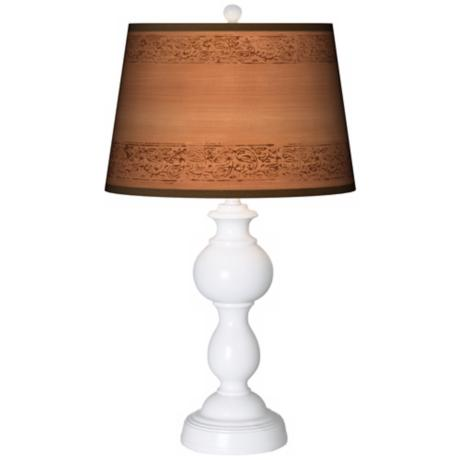 Paisley Trim Giclee Sutton Table Lamp