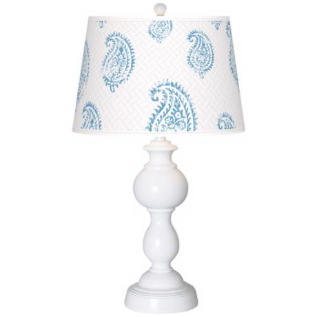 Paisley Snow Giclee Sutton Table Lamp