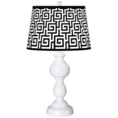 Greek Key Giclee Sutton Table Lamp