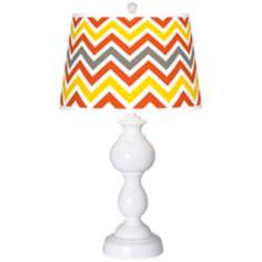 Flame Zig Zag Giclee Sutton Table Lamp