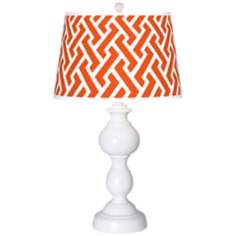 Red Brick Weave Giclee Sutton Table Lamp