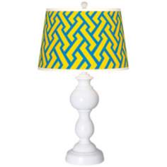 Yellow Brick Weave Giclee Sutton Table Lamp