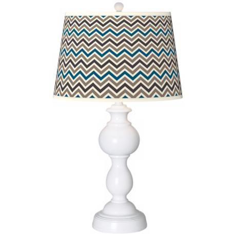 Zig Zag Giclee Sutton Table Lamp
