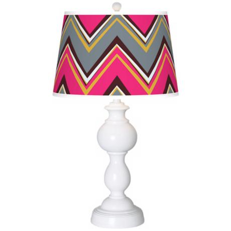 Stacy Garcia Chevron Pride Pink Giclee Sutton Table Lamp